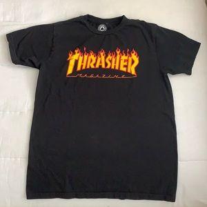Black and Orange Thrasher T-Shirt